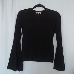 Milly black knit with flared sleeves